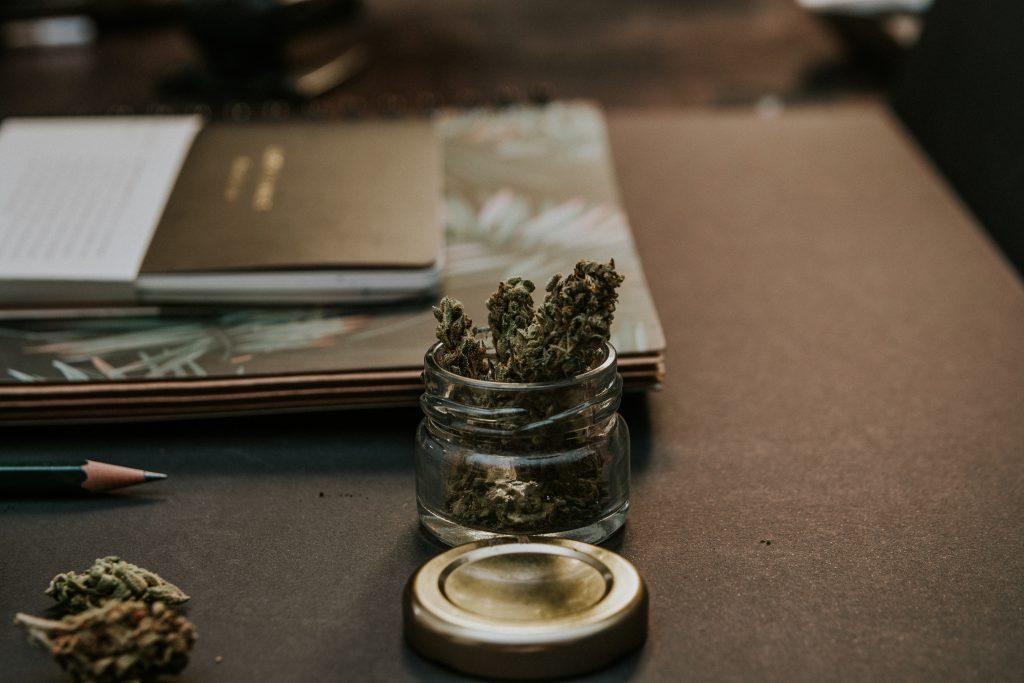 Dopamine Darling Cannabis Bud Marijuana Desk